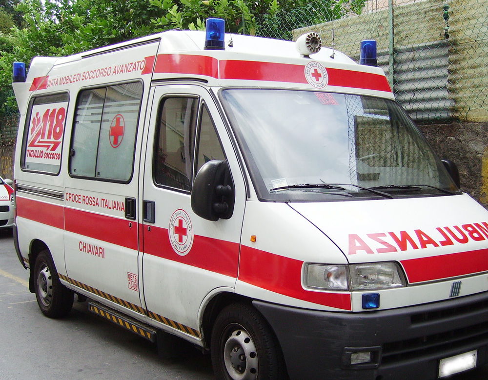 incidente ambulanza Rieti Rugby